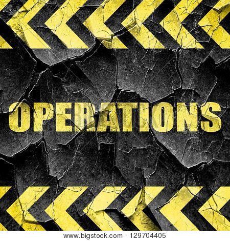 operations, black and yellow rough hazard stripes