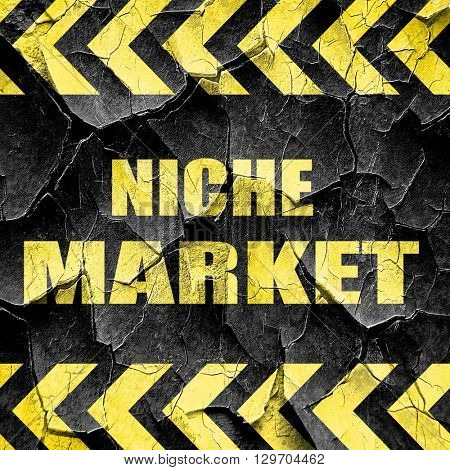 niche market, black and yellow rough hazard stripes