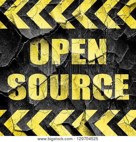 open source, black and yellow rough hazard stripes