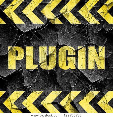 plugin, black and yellow rough hazard stripes
