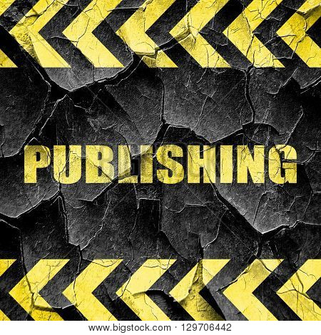 publishing, black and yellow rough hazard stripes