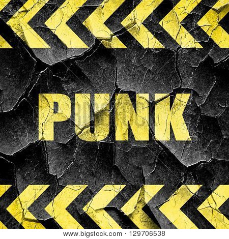 punk, black and yellow rough hazard stripes