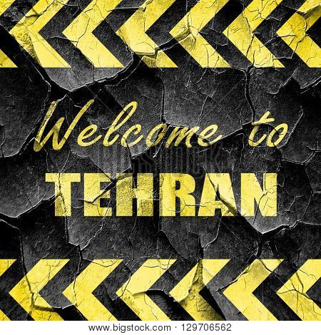 Welcome to tehran, black and yellow rough hazard stripes
