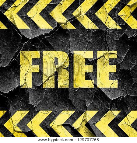 free sign background, black and yellow rough hazard stripes