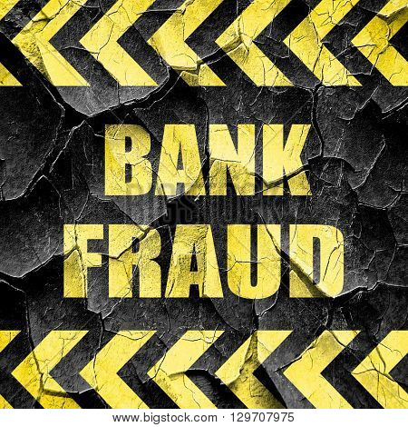 Bank fraud background, black and yellow rough hazard stripes