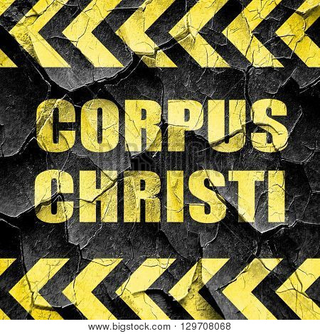 corpus christi, black and yellow rough hazard stripes