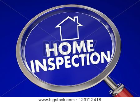 Home Inspection Magnifying Glass House Safety Check 3d Illustration