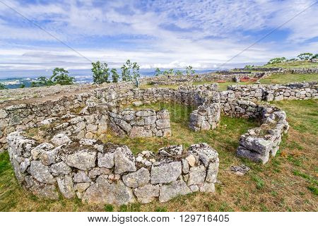 Citania de Sanfins. A Castro Village (fortified Celtic-Iberian pre-historic settlement) in Pacos de Ferreira, Portugal.