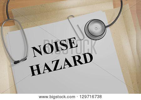 Noise Hazard Medicial Concept