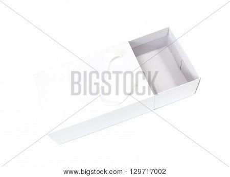 white empty shoebox isolated on white background