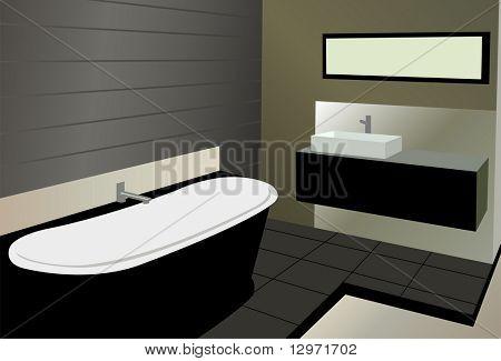 Badezimmer-Vektor