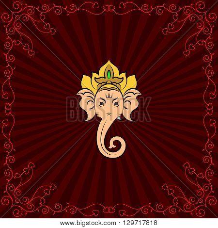 Ganesha The Lord Of Wisdom Vector Art