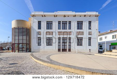 The Cine-Teatro (cinema and theater) of Nisa. Nisa, Portugal.