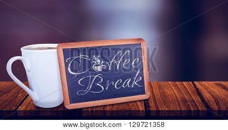 Chalkboard against a sentence