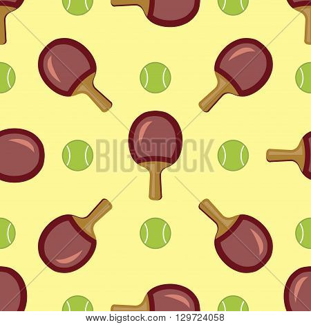 Tennis rackets seamless pattern. Bright cartoon sports background.