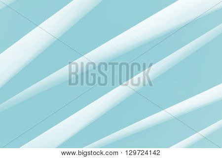 Abstract  architectural pattern. White stripes on blue background
