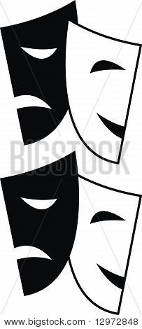 Theatrical masks - Tragedy and Comedy