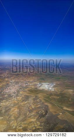 Aerial view at Guadalajara province in Spain