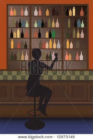 bottle bar vector
