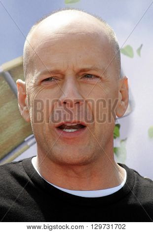 Bruce Willis at the Los Angeles premiere of 'Over The Hedge' held at the Mann Village Theatre in Westwood, USA on April 30, 2006.