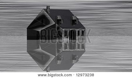 Black House with Mirage