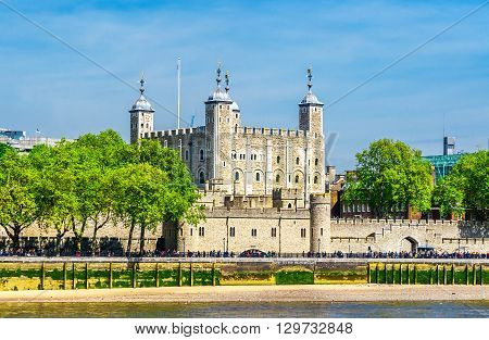 Tower Of London On The Thames River