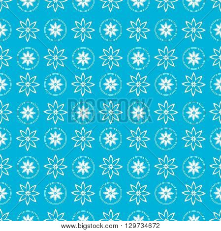 Beautiful seamless pattern with flowers and snowflakes, of Christmas background, vector illustration