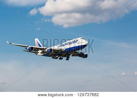 Boeing 747 Take Off From Runway