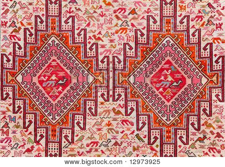 carpet with animalistic ornament