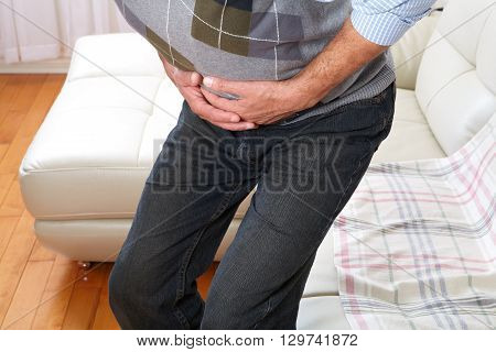 Man Suffering From Belly-ache