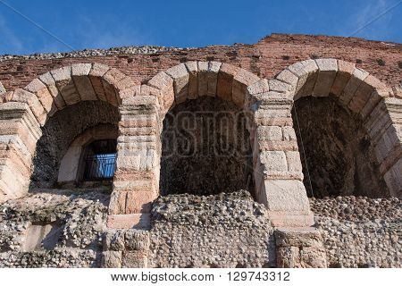 a view of arena in verona italy