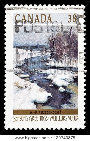 CANADA - CIRCA 1989 : Cancelled postage stamp printed by Canada, that shows Landscape.