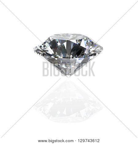 Diamond round shape(high resolution 3D image) Illustrations.