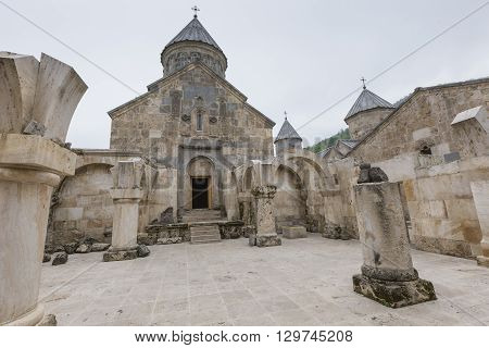 The 13Th Century Haghartsin Monastery In Armenia.the Ancient Monastery Is Located Near The Town Of D