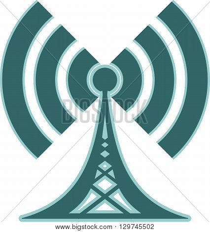 Wi Fi Symbol icon. Mobile gadgets technology relative image