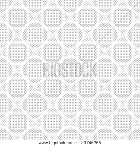 Classical seamless pattern. Modern stylish texture with small dots. Regularly repeating gentle pastel tiles with dotted stars rhombus. Vector geometric background