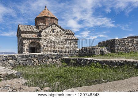 The 9Th Century Armenian Monastery Of Sevanavank At Lake Sevan.