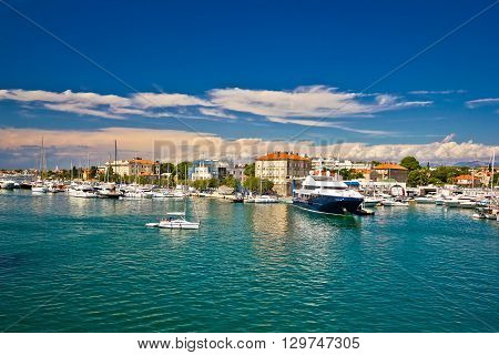 Town of Zadar harbor view Dalmatia Croatia