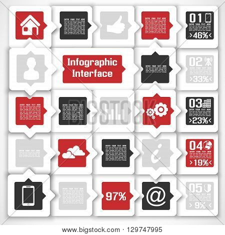 VECTOR MODERN BUSINESS SQUARE BACKGROUND ILLUSTRATION INFOGRAPHIC PAPER
