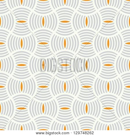 Art deco seamless pattern. Modern stylish texture. Repeating geometrical shapes arcs ovals waves. Vector element of graphic design