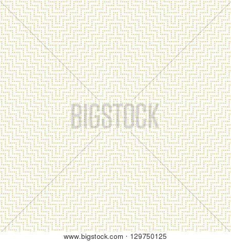 Seamless pattern. Modern stylish texture with small dots. Regularly repeating geometrical ornament with dotted zigzag lines. Vector element of graphical design