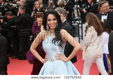 Mallika Sherawat attends 'The BFG' premier during the 69th Annual Cannes Film Festival on May 14, 2016 in Cannes.