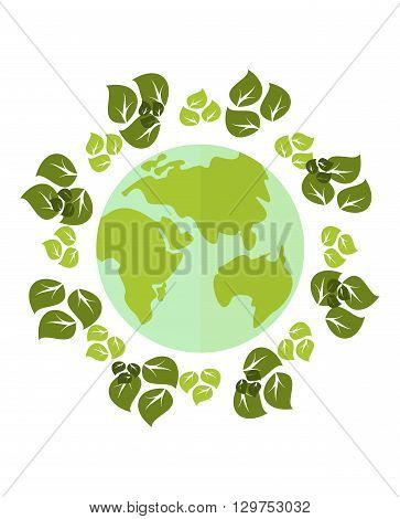 Сonceptual image of a green energy and pollute.Ecology icons. Ecology icons set. Ecology icons flat. Ecology icons illustration. Cartoon flat vector illustration. Objects isolated on a white background.
