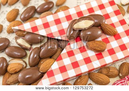 Fresh And Chocolate Covered Almonds