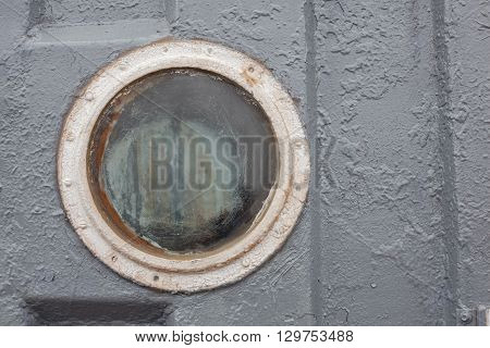 round window, porthole - aboard small river ship