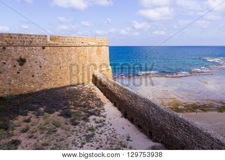 Fragment of the fortress wall in Old Acre