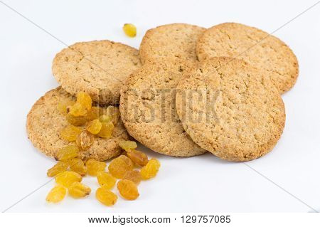 Integral Cookies With Yellow Raisins