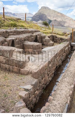 Details Of Pisac, Former Inca City, Peru