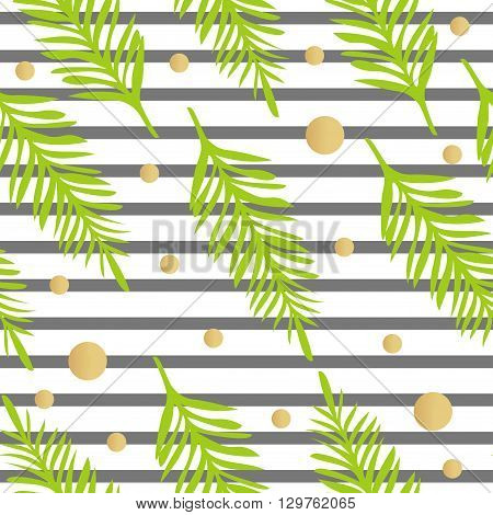 Tropical background of palm leaves. Seamless tropical palm leaves backdrop. Seamless summer pattern. Tropical Pattern. Vector Summer Pattern. Palm Leaves Pattern.