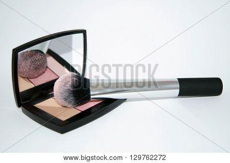 Blush Palette With Makeup Brush